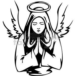 300x300 Royalty Free Christian Religion Angel 076 386029 Vector Clip Art