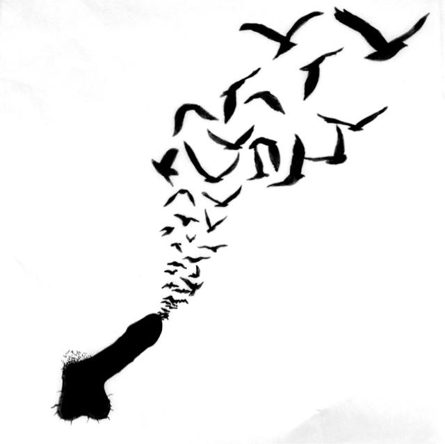 640x639 Bird Silhouette Feather Tattoo