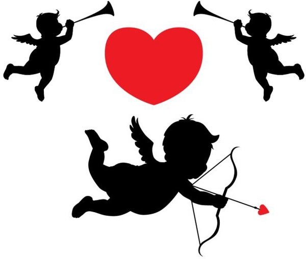 600x508 Cupid With Musician Angels Free Vector In Encapsulated Postscript
