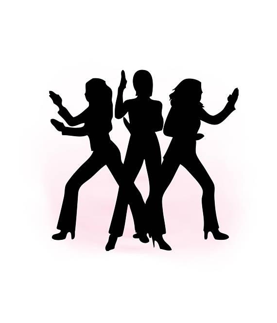 570x664 Silhouette Businesswomen Posing Like Charlies Angels Stock Vector