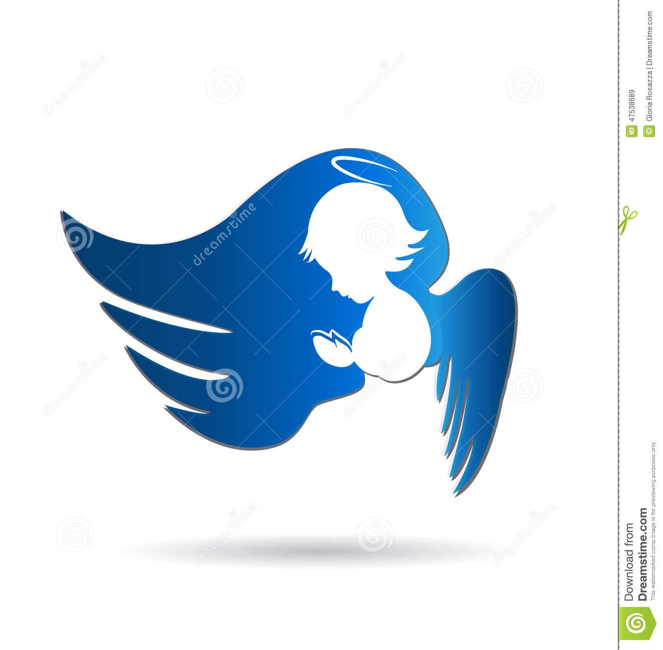 1325x1300 Angel Praying Stock Vector Illustration Of Cartoons 47538689 Logo