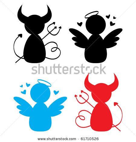 450x470 Stock Vector Angel And Devil Icons. Ref Devil