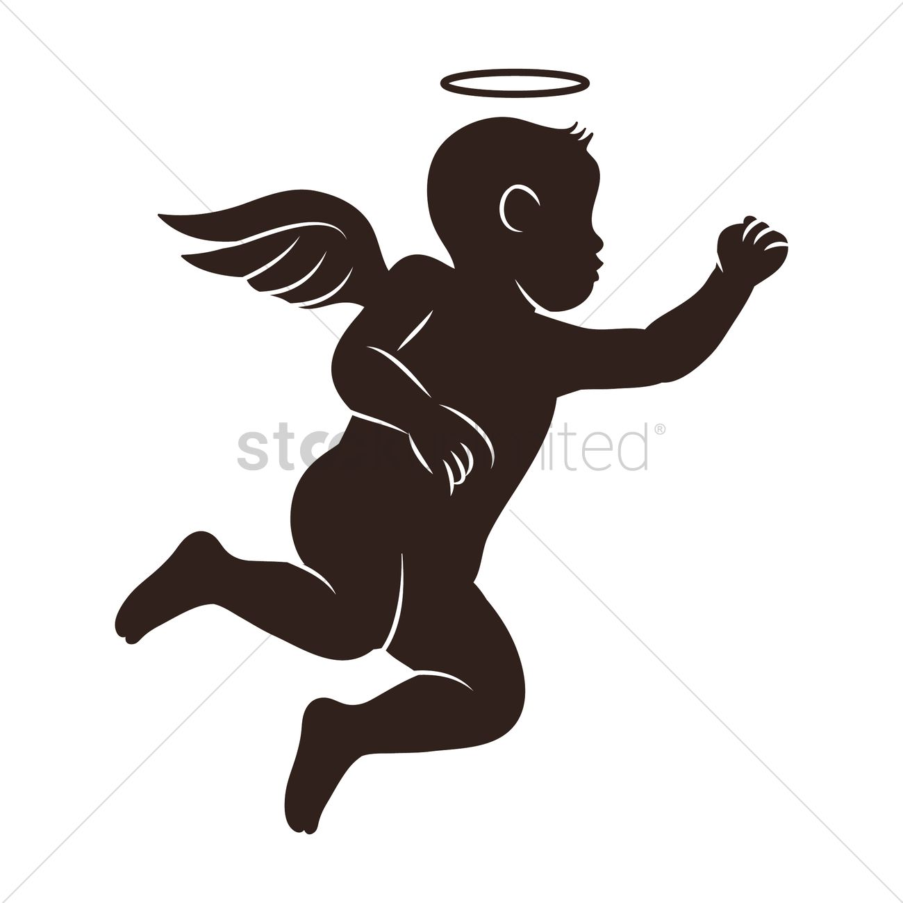 1300x1300 Angel Silhouette Vector Image