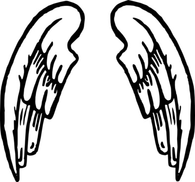 394x368 Angel Wing Silhouette Free Vector Download (6,416 Free Vector)