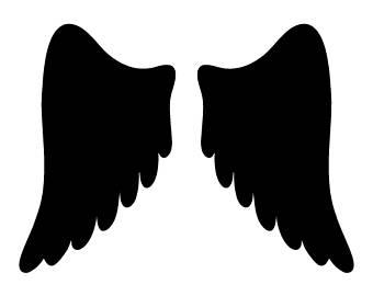 340x270 Angel Wings Stencils Etsy