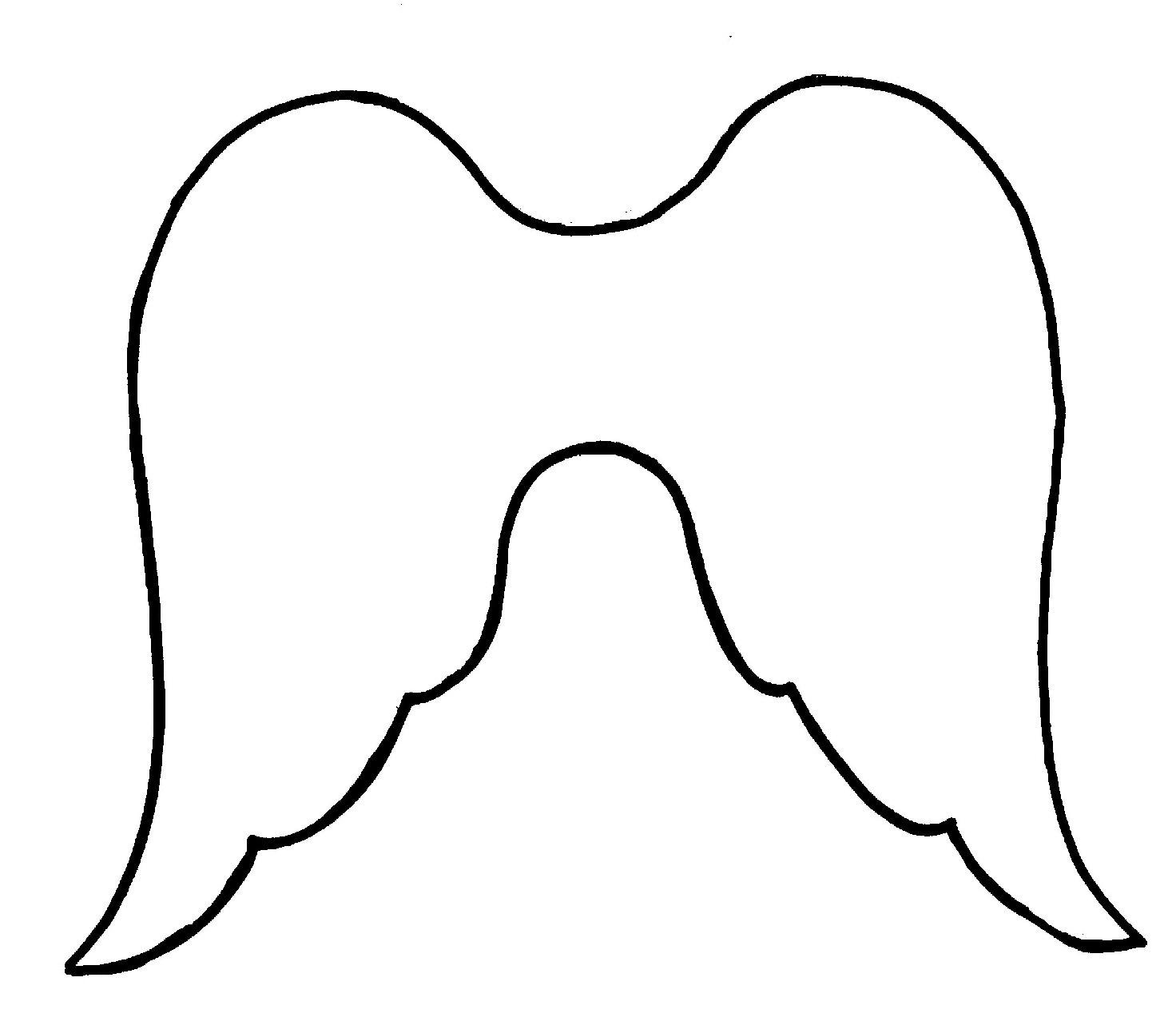1472x1293 Dark Angel Clipart Simple Wing