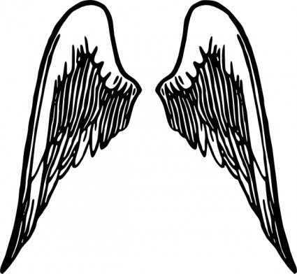 425x392 Wing Silhouette Designs Clipart