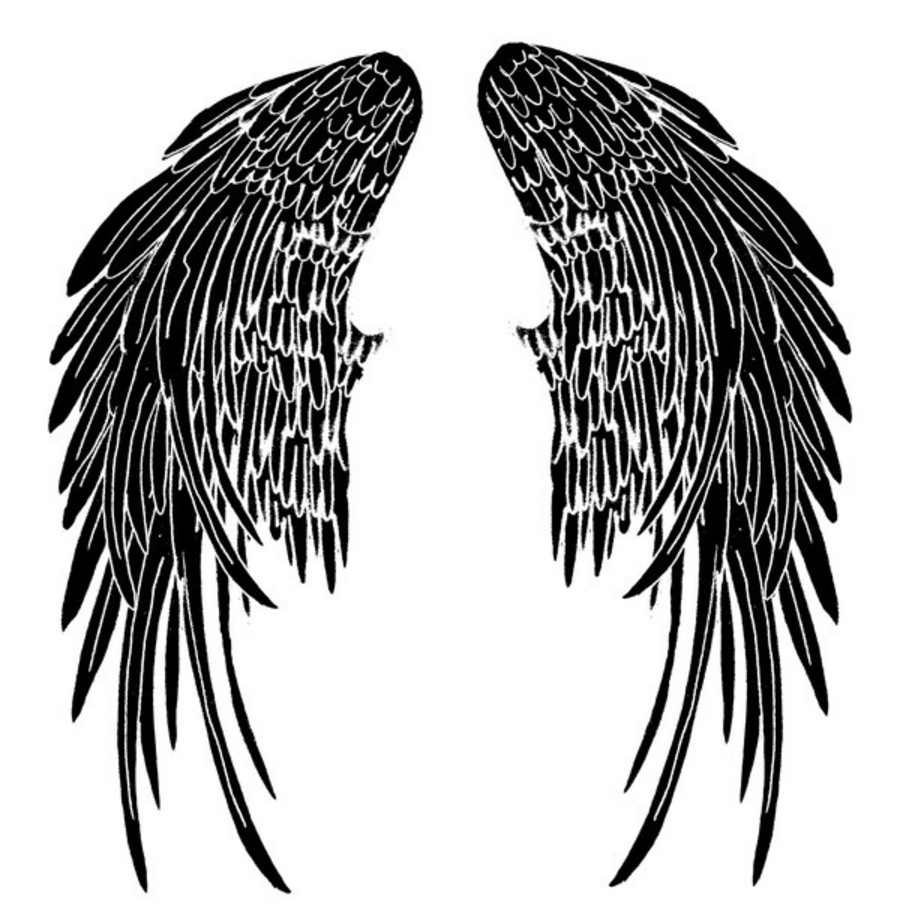 900x921 Collection Of Wings Silhouette Tattoo Designs