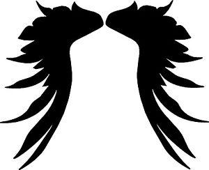 300x244 Dark Angel Wings Motorcycle Graphics Vinyl Decals, Stickers (2