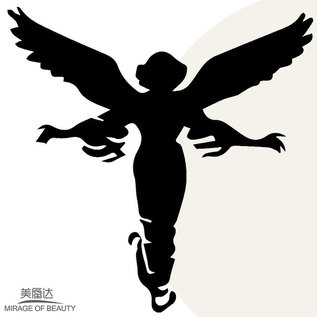 640x640 Sacred Elegant Angel Wings Happy Flying Car Sticker For Truck