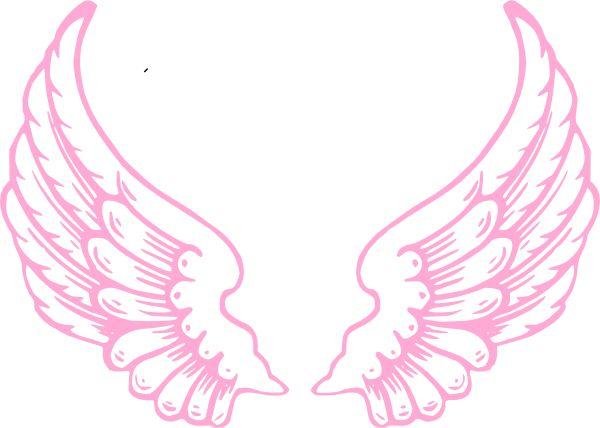 600x428 Angel Wings Nursery Baby Silhouette Clipart Vector