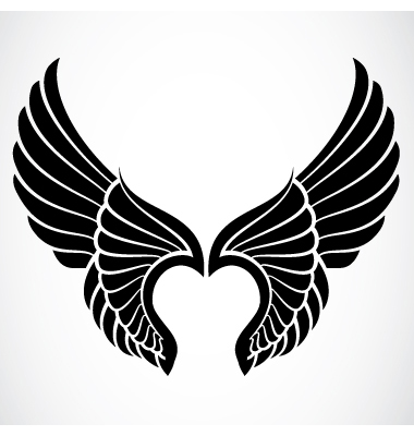 Angel Wings Silhouette Vector