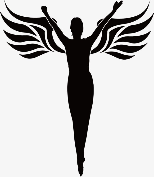 650x745 Angels Outline Vector Material, Angel, Contour, Vector Png