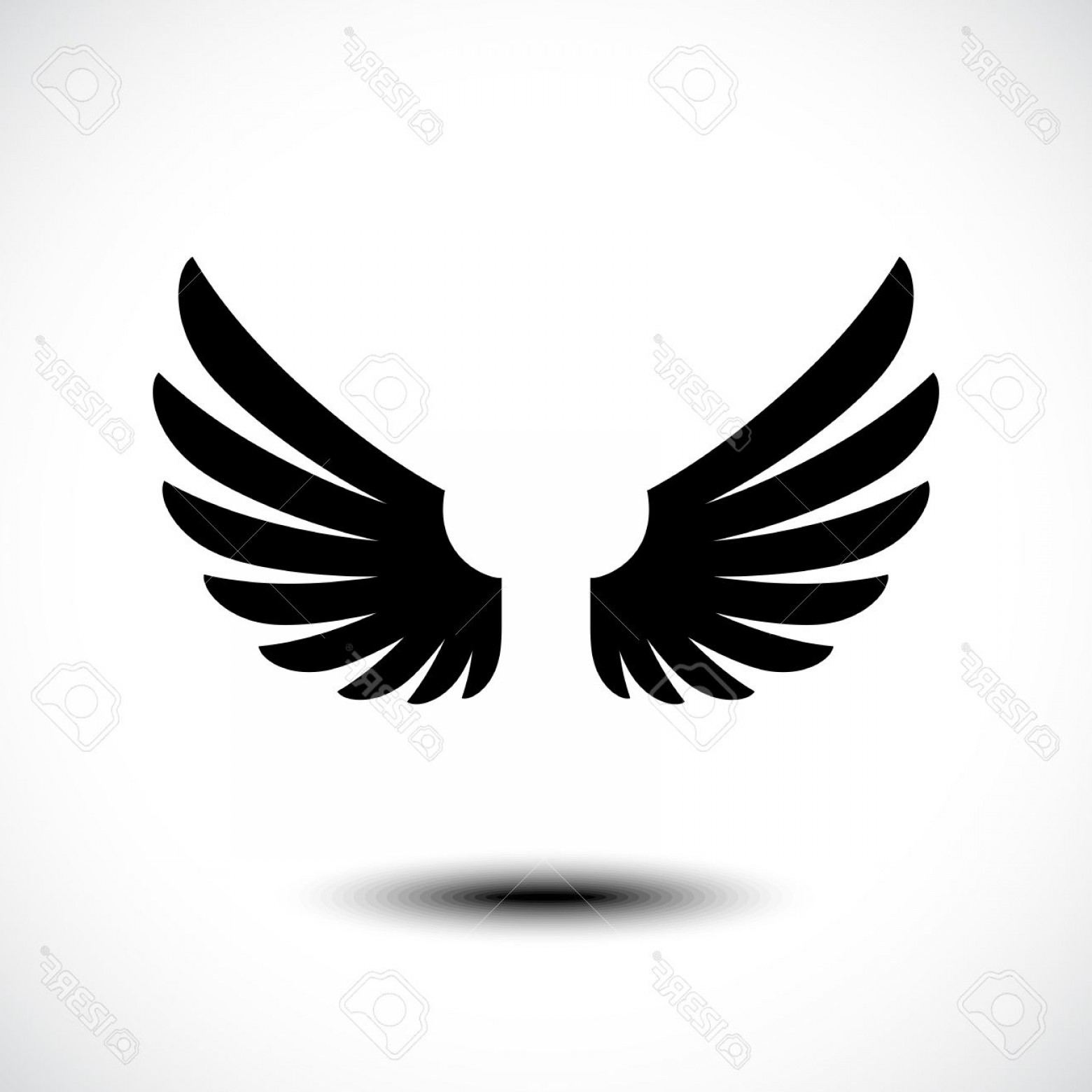 1560x1560 Fanciful Photostock Vector Angel Wings Vector Illustration Lazttweet