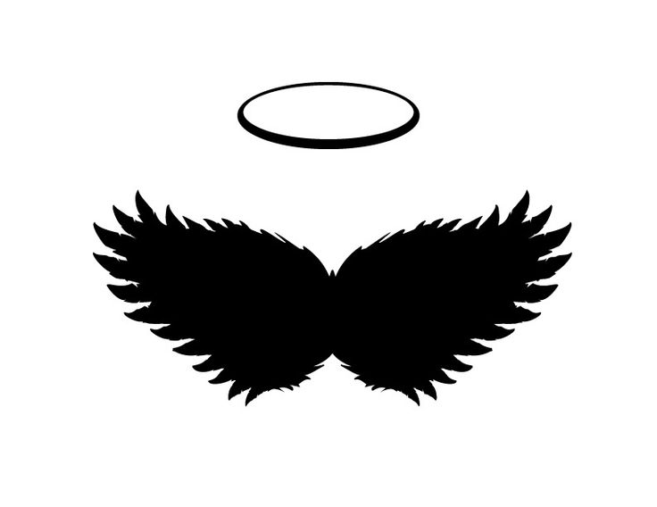 736x568 Halo Clipart Black Angel