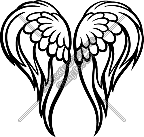 500x476 Angel Wings Clipart And Vectorart Graphics