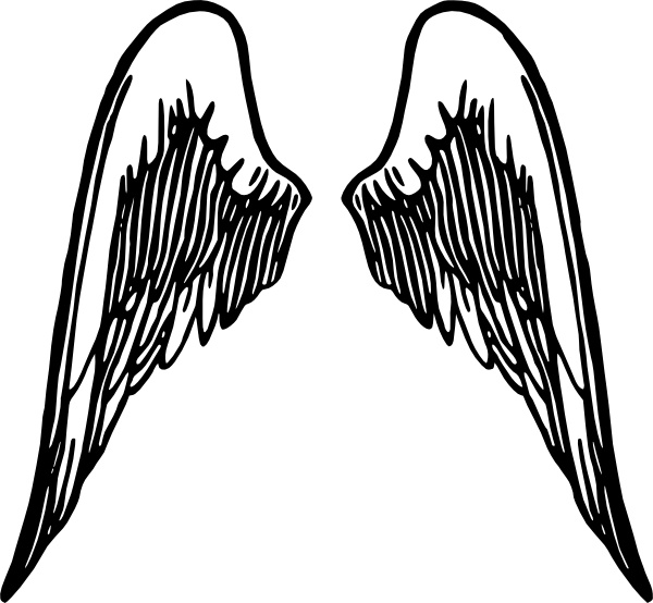 600x554 Angel Wings Tattoo Clip Art Free Vector In Open Office Drawing Svg
