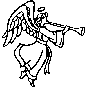 angel with trumpet silhouette at getdrawings com free for personal rh getdrawings com