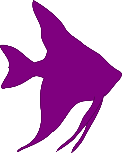 474x597 Angelfish Silhouette Clip Art