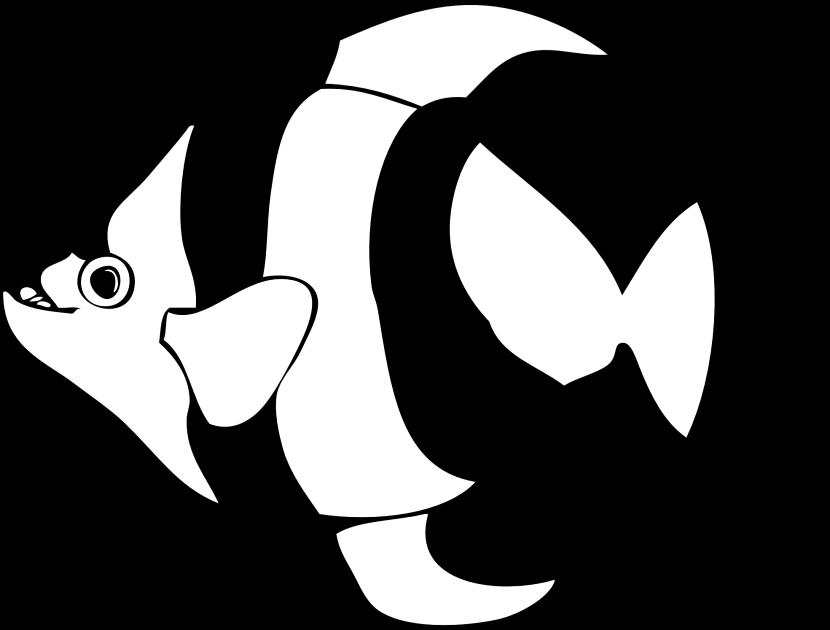 Dorable Angel Fish Para Colorear Imprimible Viñeta - Ideas Para ...