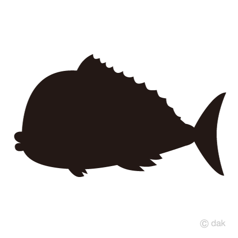 480x480 Free Sea Bream Silhouette Cartoon Amp Clipart Amp Graphics
