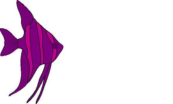 600x361 Purple Angelfish Clip Art
