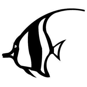 300x300 Tropical Fish Ocean Metal Steel Not Painted 10 Inch Usa Silhouette