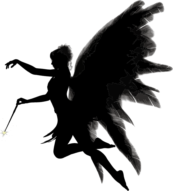 709x782 Angel Silhouette Clipart