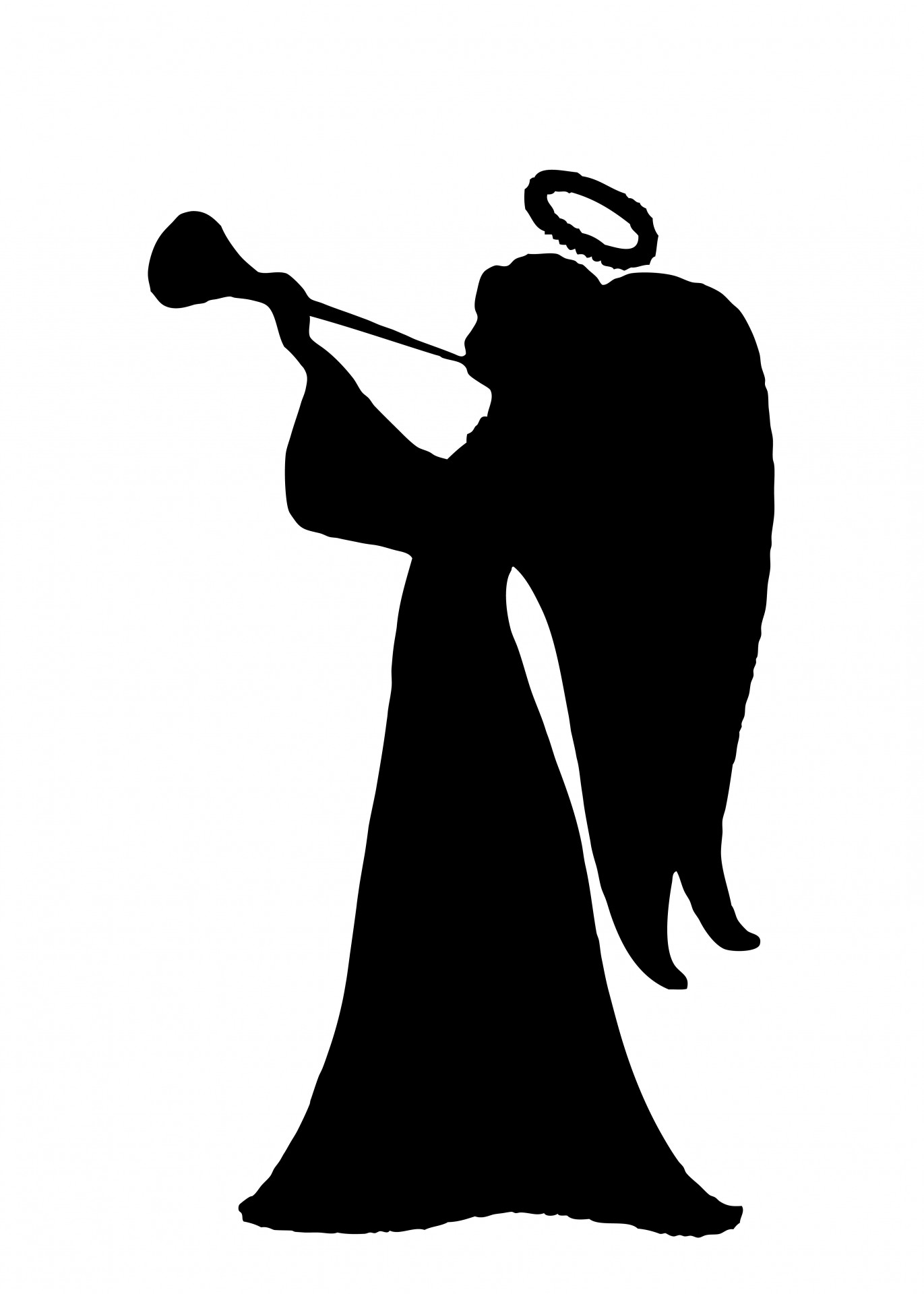 1371x1920 Angel Silhouette Clipart Free Stock Photo