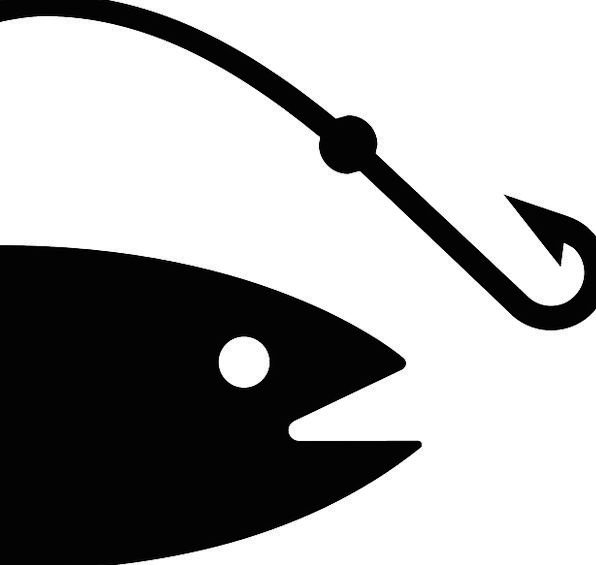596x565 Fish, Angle, Peg, Symbol, Hook, Lure, Silhouette, Outline, Fishing