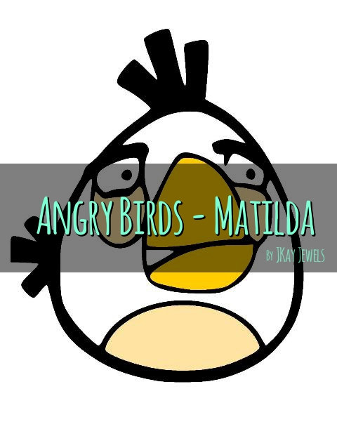 480x621 Angry Birds Matilda Silhouette Svg File For Die Cut Vinyl Machines