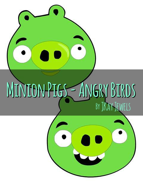480x621 Angry Birds Minion Pigs Silhouette Svg File For Die Cut Vinyl
