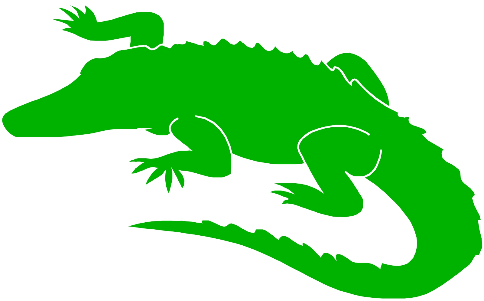 1601x995 Caiman Clipart Angry