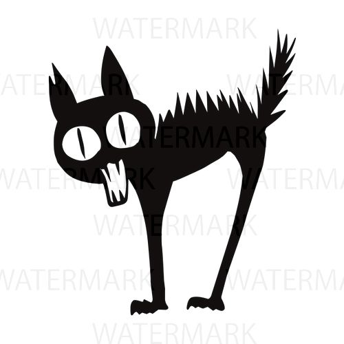 500x500 3 Black Cat Excited Angry Meow Halloween Style Friendship Pet