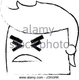 313x320 Cartoon Man Face Angry Expression Stock Vector Art Amp Illustration