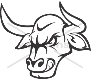 320x277 Bull Clipart Outline
