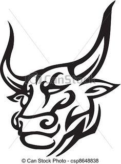 236x321 Raging Longhorn Bull Vector Image Logo Clip Art