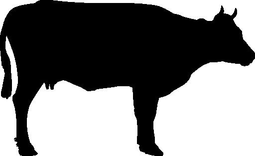 512x313 Cattle Silhouette Clip Art