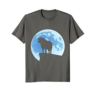 385x360 Black Angus Moon Bull Silhouette T Shirt Clothing
