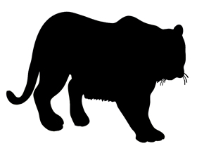 280x218 Tiger Silhouette Clipart