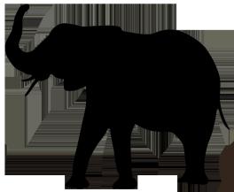 264x217 Animal Silhouette, Silhouette Clip Art