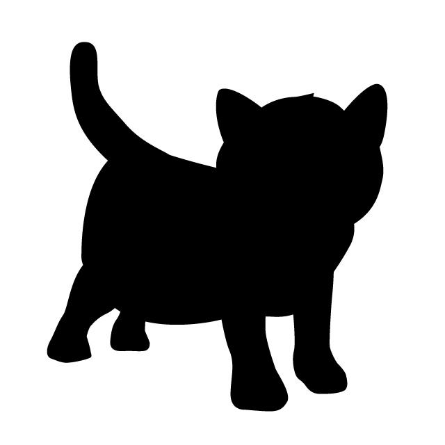 640x640 Kitten Animal Silhouette Free Illustrations