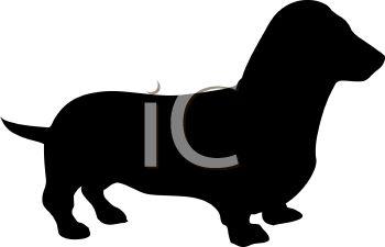 350x225 Animal Silhouette Of A Dachshund