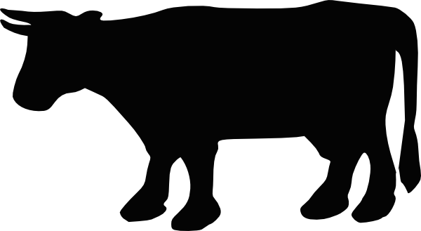 600x329 Cow Silhouette Clip Art Free Vector 4vector