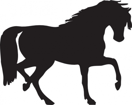 425x340 Horse Silhouette Clip Art Vector, Free Vector Graphics