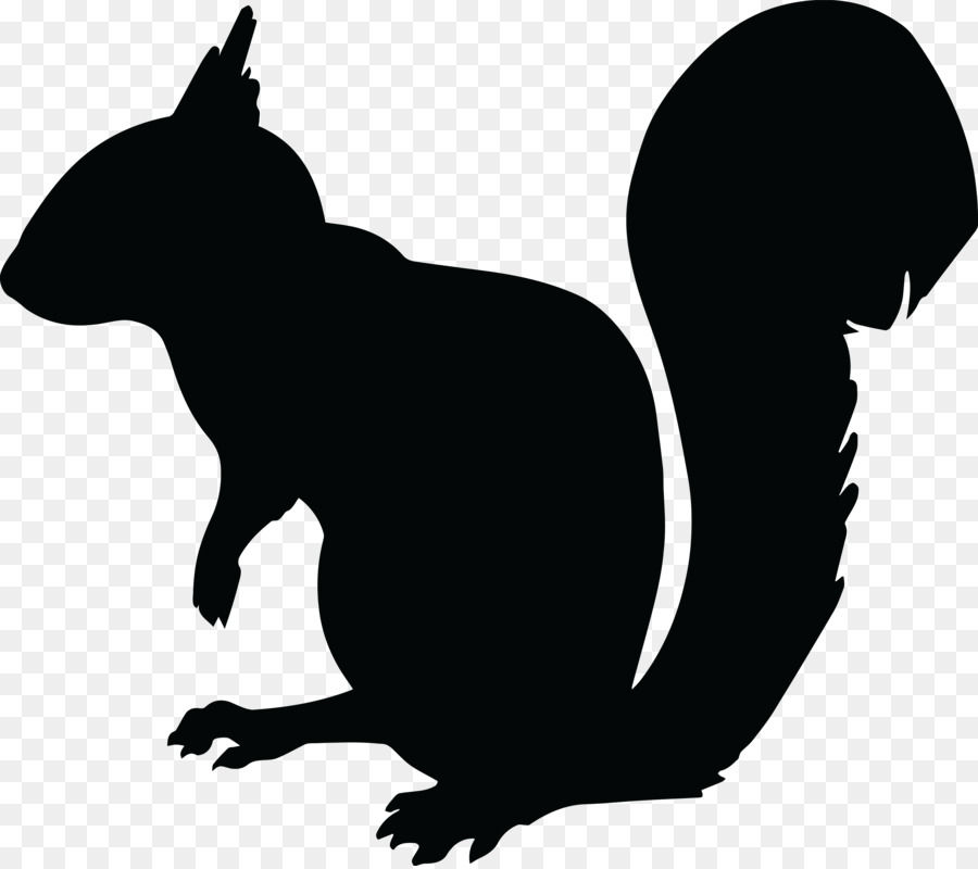 900x800 Squirrel Chipmunk Silhouette Clip Art