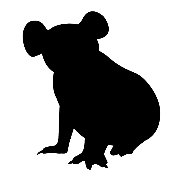640x640 Koala Animal Silhouette Free Illustrations