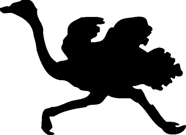 600x438 Ostrich Silhouette Clip Art Free Vector 4vector
