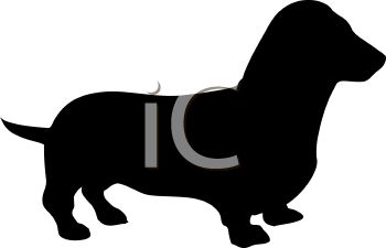 350x225 Animal Silhouette Of A Dachshund