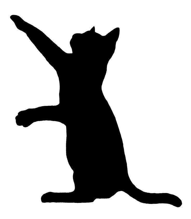 736x843 Clipart Cats Silhouette Image Cat Black